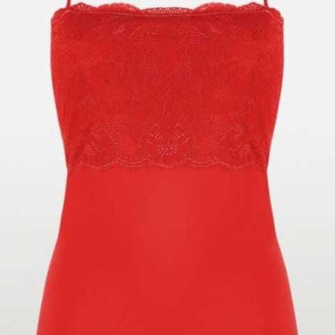 Купить Майка Triumph Light Essential Rich Lace Shirt 01 Красный распродажа сток Киев Украина